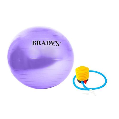 Фото - Фитбол Bradex Фитбол-75 ф.:круглый d=75см фиолетовый (SF 0719) мяч для фитнеса bradex фитбол 75 с насосом sf 0187