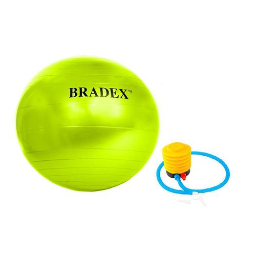 Фото - Фитбол Bradex Фитбол-75 ф.:круглый d=75см зеленый (SF 0721) мяч для фитнеса bradex фитбол 75 с насосом sf 0187