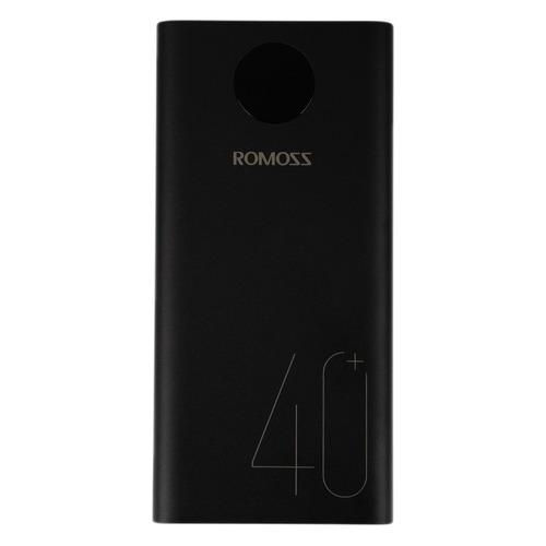 Внешний аккумулятор (Power Bank) Romoss PEA40, 40000мAч, черный внешний аккумулятор power bank interstep is ak pst150pdc blkb201 40000мaч черный [65362]