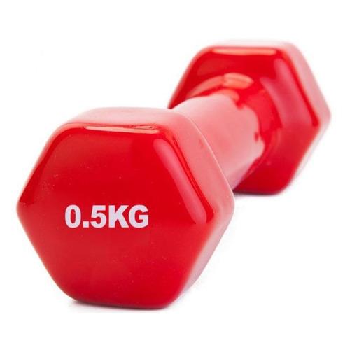 Гантель Bradex SF 0269 1гант. 0.5кг обрезин. красный недорого