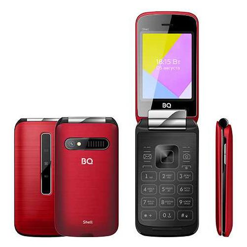 Сотовый телефон BQ Shell 2816, красный мобильный телефон bq 2816 shell gold