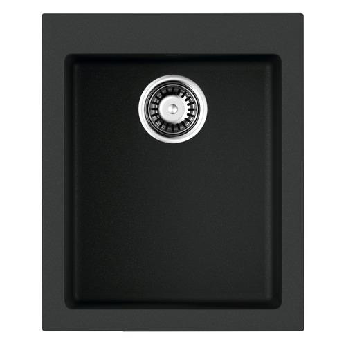 Кухонная мойка OMOIKIRI Bosen 41-BL, искусственный гранит, 41см х 50см, черный [4993141]