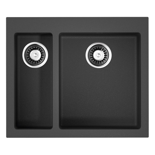 Кухонная мойка OMOIKIRI Bosen 59-2-BL, искусственный гранит, 59см х 50см, черный [4993149]
