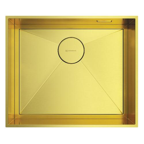 Кухонная мойка OMOIKIRI Kasen 53-INT-LG, нержавеющая сталь, 53см х 46см, светлое золото [4993790]