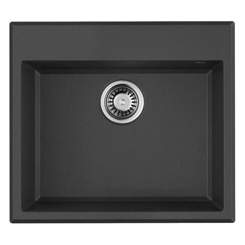 Кухонная мойка OMOIKIRI Tedori 57-BL, искусственный гранит, 57см х 51см, черный [4993980]