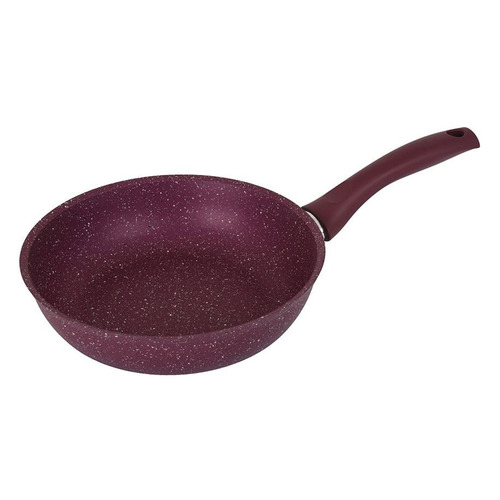 Сковорода KUKMARA Trendy style 260tsm, 26см, без крышки, фиолетовый сковорода d 24 см kukmara кофейный мрамор смки240а