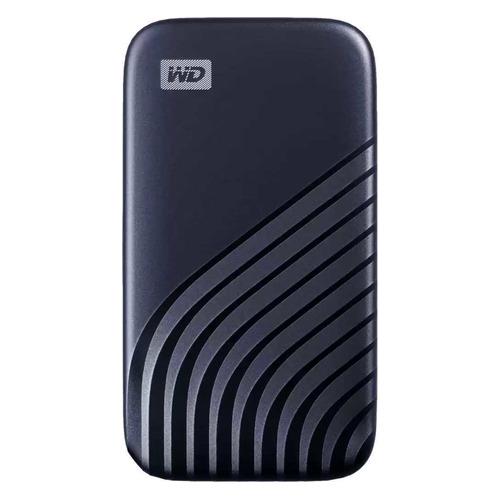 Фото - Внешний диск SSD WD My Passport WDBAGF5000ABL-WESN, 500ГБ, синий внешний диск ssd wd my passport wdbagf0020bgy wesn 2тб серый