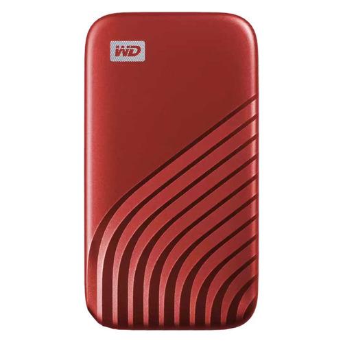 Фото - Внешний диск SSD WD My Passport WDBAGF5000ARD-WESN, 500ГБ, красный внешний диск ssd wd my passport wdbagf0020bgy wesn 2тб серый