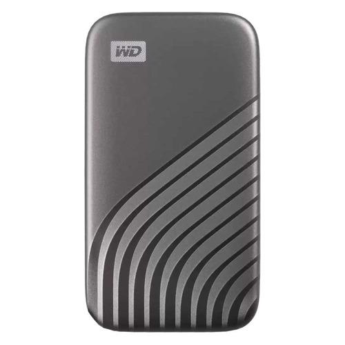Фото - Внешний диск SSD WD My Passport WDBAGF0010BGY-WESN, 1ТБ, серый внешний диск ssd wd my passport wdbagf0020bgy wesn 2тб серый