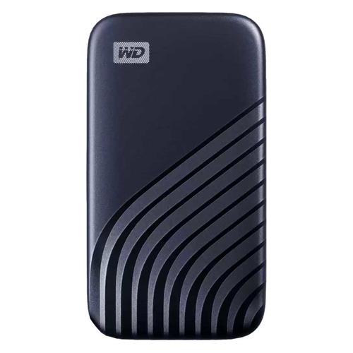 Фото - Внешний диск SSD WD My Passport WDBAGF0010BBL-WESN, 1ТБ, синий внешний диск ssd wd my passport wdbagf0020bgy wesn 2тб серый