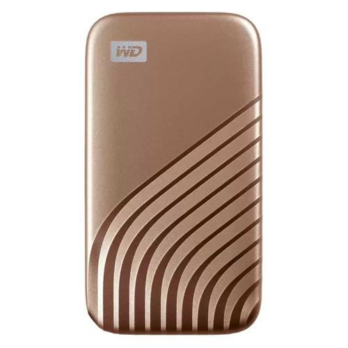 Фото - Внешний диск SSD WD My Passport WDBAGF0010BGD-WESN, 1ТБ, золотистый внешний диск ssd wd my passport wdbagf0020bgy wesn 2тб серый