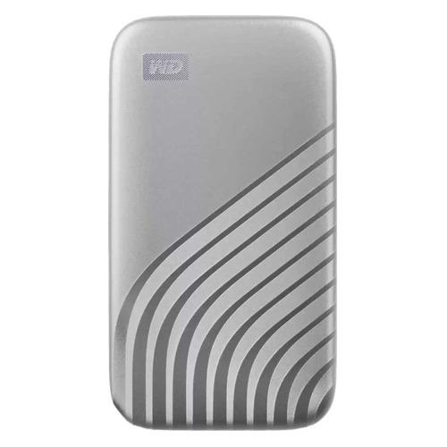 Фото - Внешний диск SSD WD My Passport WDBAGF0010BSL-WESN, 1ТБ, серебристый внешний диск ssd wd my passport wdbagf0020bgy wesn 2тб серый