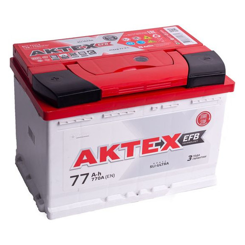 Аккумулятор автомобильный АКТЕХ ATEFB 77-3-L 77Ач 770A