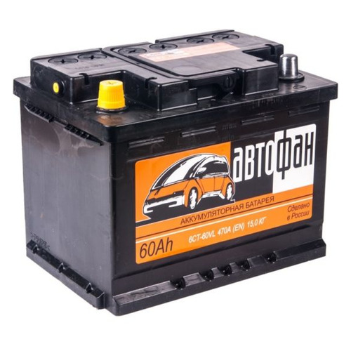 Аккумулятор автомобильный АВТОФАН 6CT-60.1 60Ач 470A