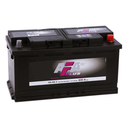 Аккумулятор автомобильный AFA HSN 52 100Ач 830A