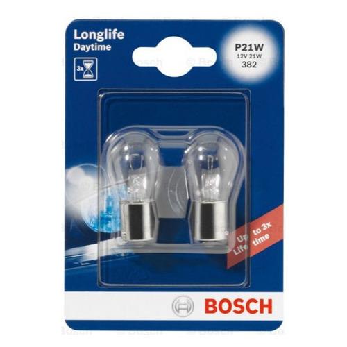 Лампа автомобильная галогенная Bosch 1987301050, P21W, 12В, 2шт