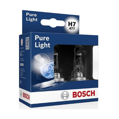Лампа автомобильная галогенная BOSCH 1987301406, H7, 12В, 2шт