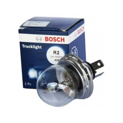 Лампа автомобильная галогенная Bosch 1987302421, R2, 24В, 1шт