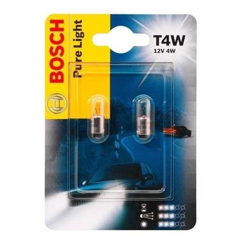 Лампа автомобильная галогенная BOSCH 1987302817, T4W, 12В, 1шт