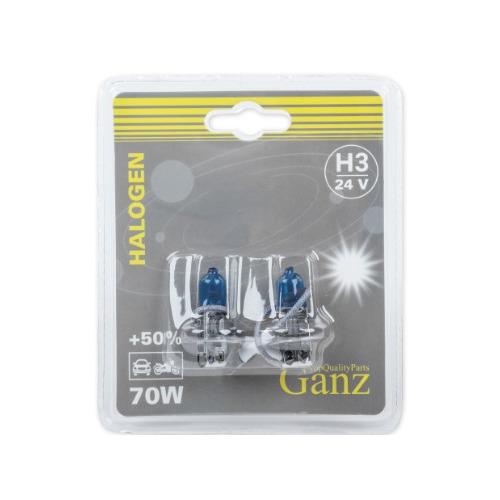 Лампа автомобильная галогенная GANZ GIP06052, H3, 24В, 2шт
