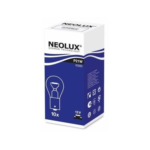 Лампа автомобильная галогенная NEOLUX N382, P21W, 12В, 1шт