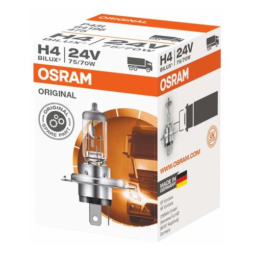 Лампа автомобильная галогенная Osram 64196, H4, 24В, 1шт