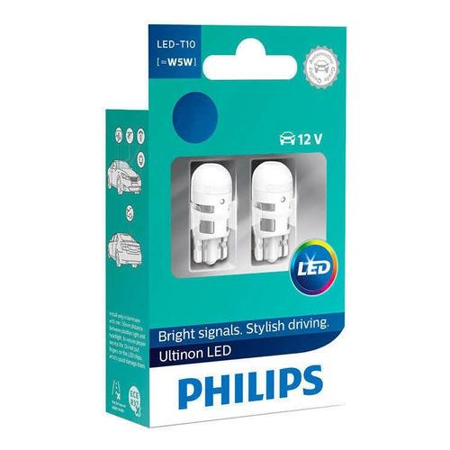 Лампа автомобильная светодиодная Philips 11961ULW4X2, T10, 12В, 4000К, 2шт