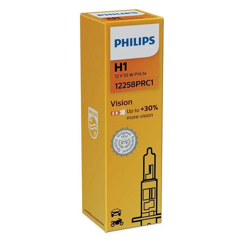 Лампа автомобильная галогенная Philips 12258PRC1, H1, 12В, 55Вт, 1шт