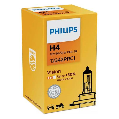 Лампа автомобильная галогенная Philips 12342PRC1, H4, 12В, 60Вт, 1шт