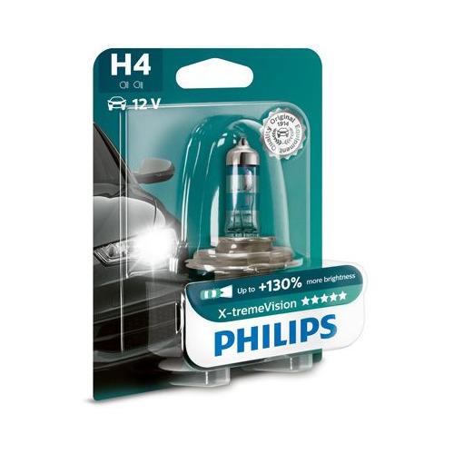 Лампа автомобильная галогенная Philips 12342XVB1, H4, 12В, 1шт