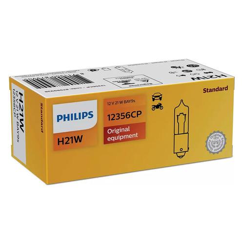 Лампа автомобильная галогенная Philips 12356CP, H21W, 12В, 1шт
