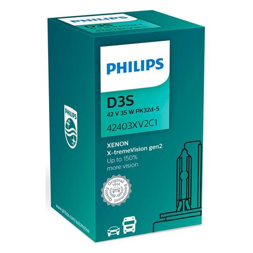 Лампа автомобильная ксеноновая Philips 42403XV2C1, D3S, 12В, 1шт [42403 xv2 c1]