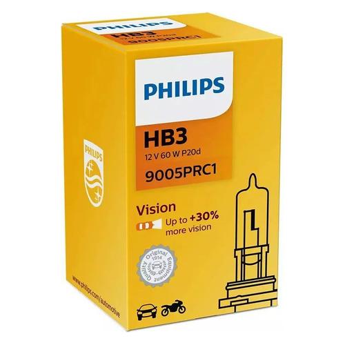 Лампа автомобильная галогенная Philips 9005PRC1, HB3, 12В, 65Вт, 3200К, 1шт