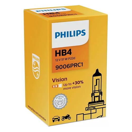 Лампа автомобильная галогенная Philips 9006PRC1, HB4, 12В, 1шт