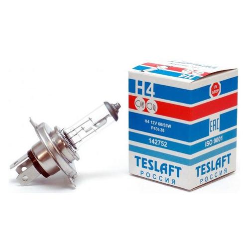 Лампа автомобильная галогенная TESLAFT 142752, H4, 12В, 60Вт, 1шт