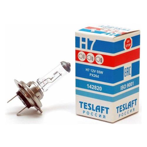 Лампа автомобильная галогенная TESLAFT 142820, H7, 12В, 55Вт, 1шт