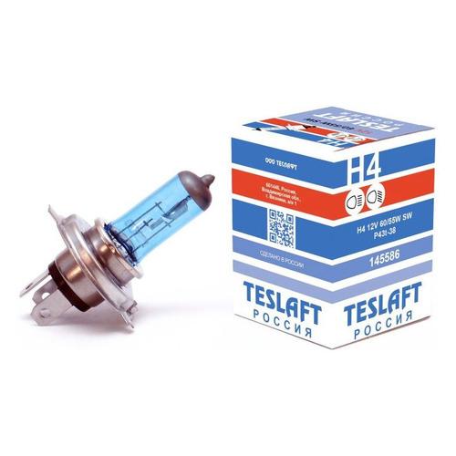 Лампа автомобильная галогенная TESLAFT 145586, H4, 12В, 60Вт, 3850К, 1шт