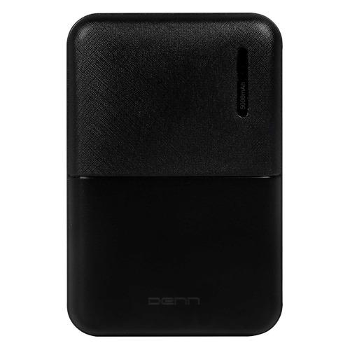 Внешний аккумулятор (Power Bank) DENN DPB5001, 5000мAч, черный [dpb5001 black]