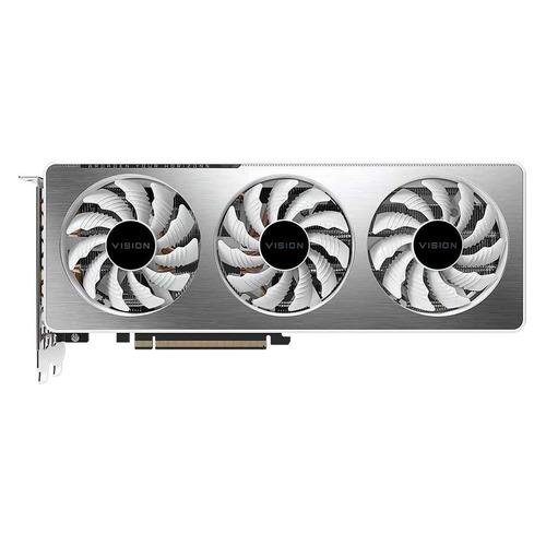 Видеокарта GIGABYTE NVIDIA GeForce RTX 3060Ti , GV-N306TVISION OC-8GD 2.0 LHR, 8ГБ, GDDR6, OC, LHR, Ret