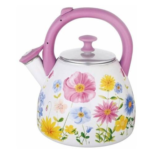 Металлический чайник ЧУДЕСНИЦА ЭЧ-3005, 3л, белый [ка-00001155] чайник металлический bk s637 3л
