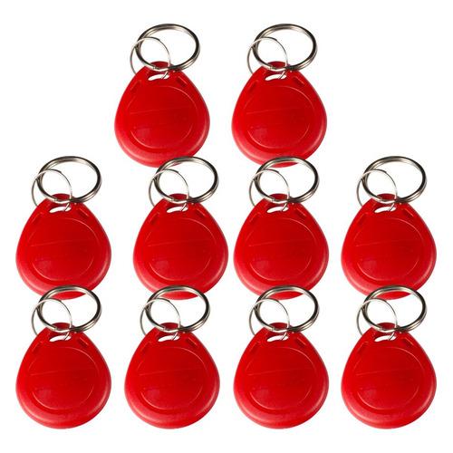 Фото - Брелок доступа TANTOS EM-Marine TS, красный, 10 шт. [00-00188482] ключ домофона tantos tm1990a ibutton ts красный [00 00068831]
