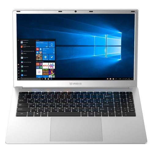 "Ноутбук IRBIS NB249, 15.6"", IPS, Intel Pentium J3710 1.6ГГц, 4ГБ, 128ГБ eMMC, Intel HD Graphics , Windows 10, NB249, серебристый"