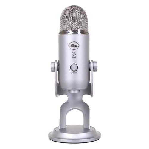 Микрофон BLUE Yeti, серебристый [988-000238]