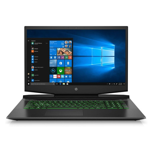 "Ноутбук HP Pavilion Gaming 17-cd2029ur, 17.3"", IPS, Intel Core i7 11370H 3.3ГГц, 16ГБ, 512ГБ SSD, NVIDIA GeForce RTX 3050 для ноутбуков - 4096 Мб, Windows 10, 4L618EA, черный/зеленый"
