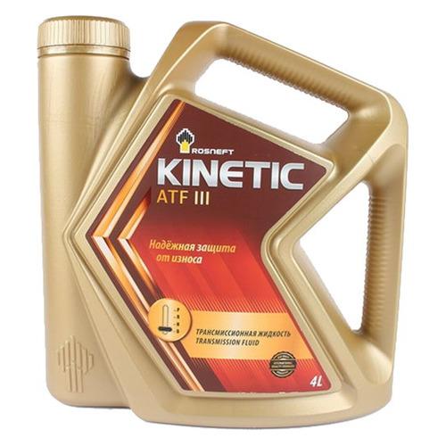 Масло трансмиссионное синтетическое ROSNEFT Kinetic ATF III, 4л [40817542]