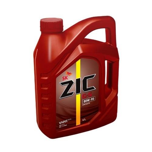 Масло трансмиссионное синтетическое ZIC G-5, 80W-90, 4л [162633]