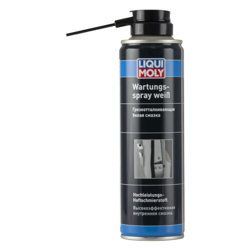 Смазка адгезионная противокор. Liqui Moly Wartungs-Spray weiss 0.25л (3953)