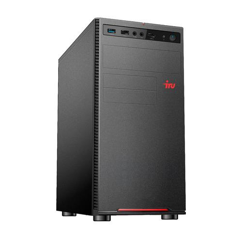 Компьютер iRU Home 615, Intel Core i5 10400F, DDR4 16ГБ, 240ГБ(SSD), NVIDIA GeForce GT710 - 1024 Мб, Windows 10 Home, черный [1553307] компьютер iru home 613 intel core i3 10100f ddr4 8гб 1тб 240гб ssd nvidia geforce gt710 1024 мб windows 10 home черный [1552443]