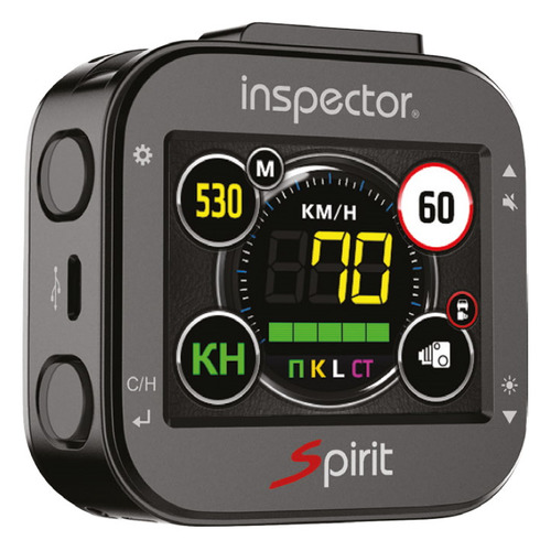Радар-детектор Inspector SPIRIT AIR, сигнатурный, черный [spirit air wifi signature gps] радар детектор inspector spirit air