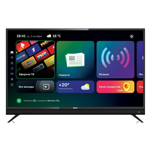 """Телевизор BBK 43LEX-8361/UTS2C, Салют ТВ, 43"""", Ultra HD 4K"""